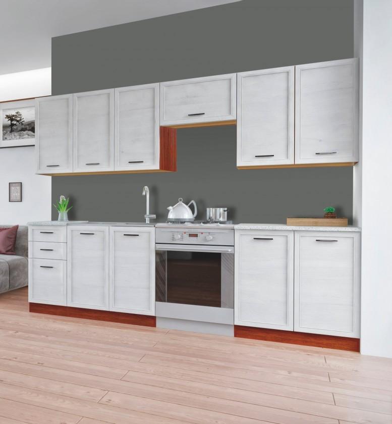 Rovná Rema - Kuchyňský blok 200/260 (bělený modřín, ořech, sv. granit)