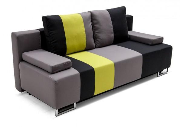 Rubi - Pohovka, rozkládací, úložný prostor (černá)