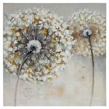 Ručně malovaný obraz Dandelion 2 (60x60 cm)