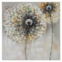 Ručně malovaný obraz Dandelion (60x60 cm)