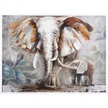 Ručně malovaný obraz Elephants (90x120 cm)
