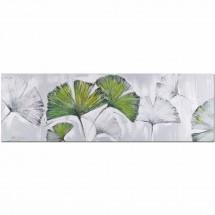Ručně malovaný obraz Ginko (50x150 cm)