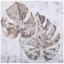 Ručně malovaný obraz Leaves (60x60 cm)