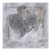 Ručně malovaný obraz Love (100x100 cm)