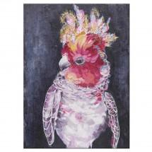 Ručně malovaný obraz Parrot 2 (90x120 cm)