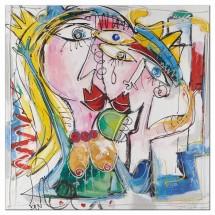 Ručně malovaný obraz People (100x100 cm)