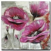 Ručně malovaný obraz Purple flower (100x100 cm)