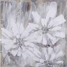 Ručně malovaný obraz Wallflower (80×80 cm)