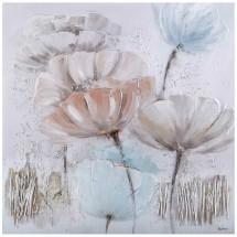 Ručně malovaný obraz Windy flowers (100x100 cm)