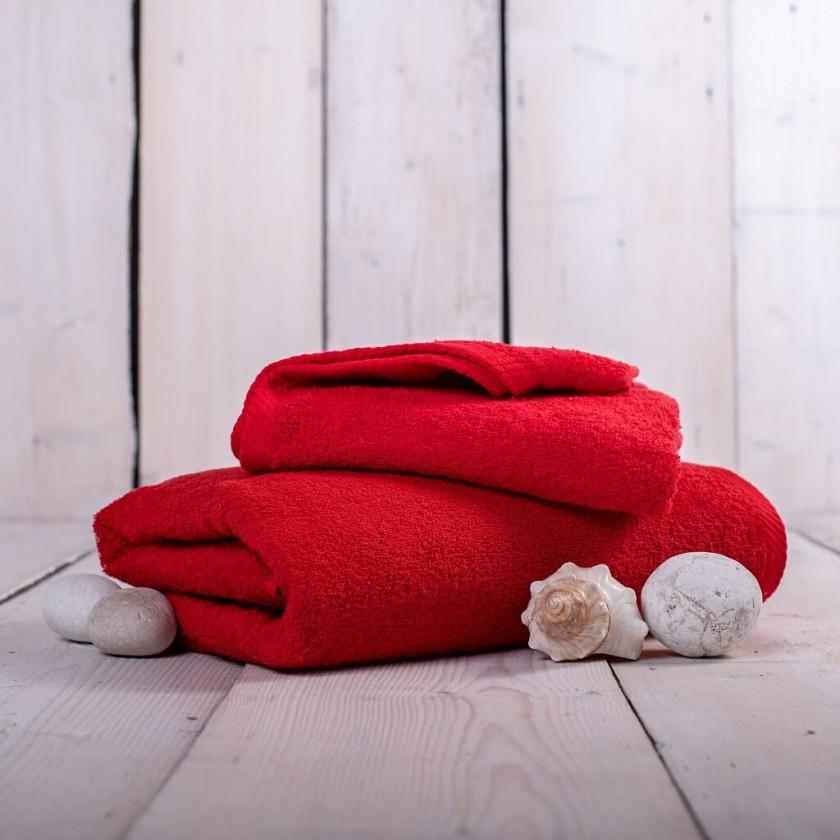 Ručníky a osušky Ručník a osuška OR01 (červená, 50x100 cm, 70x140 cm)