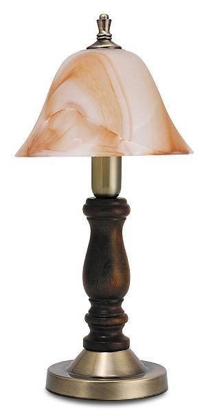 Rustic - Lampička, E14 (hnědá/oražovo alabastrová)