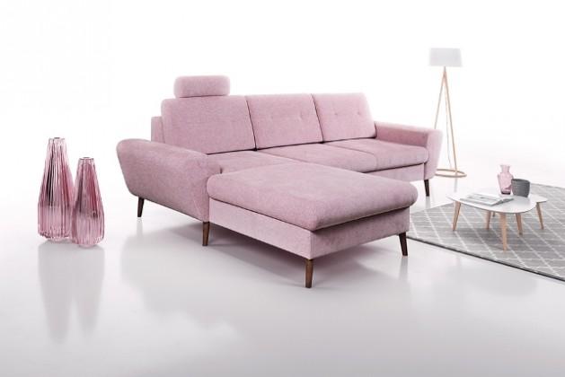 S úložným prostorem Rohová sedačka Sven levý roh ÚP růžová