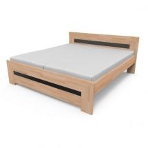 Salome - rám postele (černé sklo)