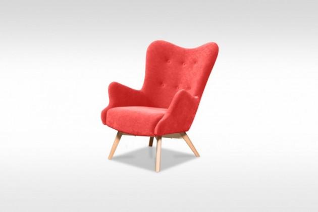 Samostatné křeslo Křeslo Glamour červená
