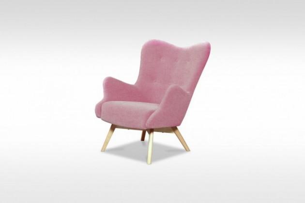 Samostatné křeslo Křeslo Glamour růžová