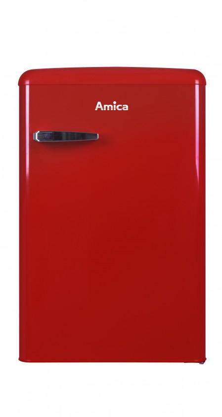 Samostatné lednice Chladnička retro s mrazničkou Amica VT 862 AR, A++