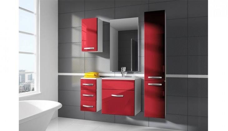 San Marino - koupelnová sestava s umyvadlem (červená)