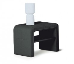 Sara - Noční stolek (černá)