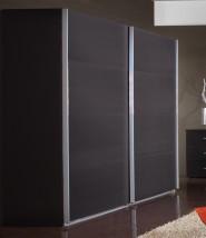 Šatní skříň Madrid  3 - 2x posuvné dveře (lava černá)