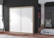 Šatní skříň Pop 2 - 180x215x60 cm (bílá/dub sonoma)