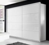 Šatní skříň Starlet Plus - (bílá, bílá lesk)