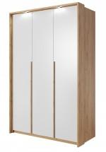 Šatní skříň Xelo 141 cm (dub zlatý/bílá)
