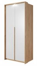 Šatní skříň Xelo 97 cm (dub zlatý/bílá)