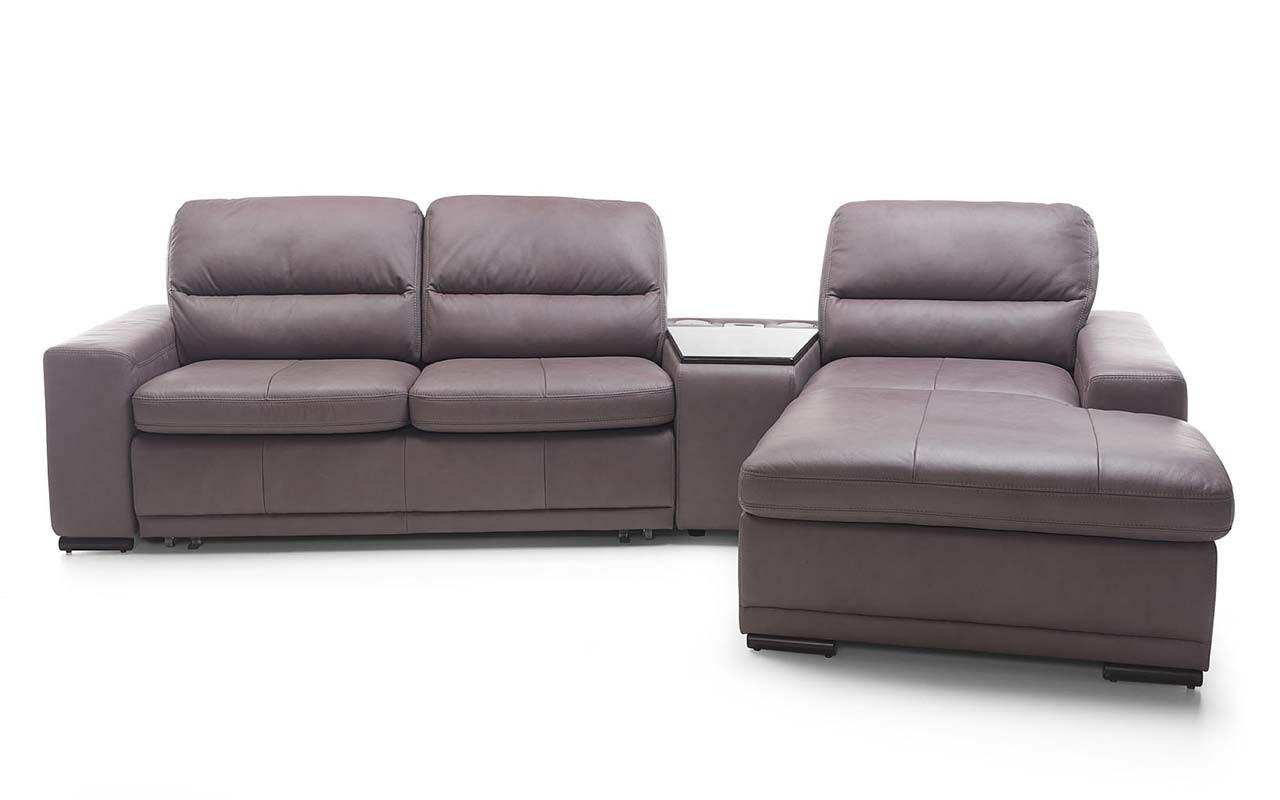 Sedací souprava tvar U Bono - rohová sedačka s barovým stolkem pravá (madras G-170)