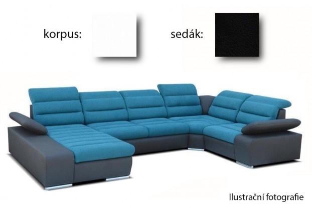 Sedací souprava tvar U Korfu II - levý roh, 4+relax (soft 17 / aruba 19)