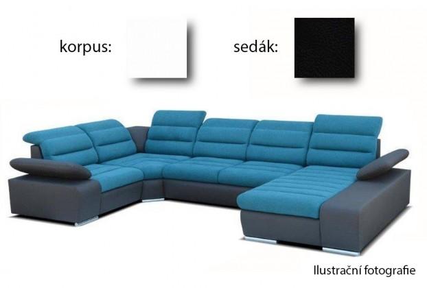 Sedací souprava tvar U Korfu II - pravý roh, 4+relax (soft 17 / aruba 19)