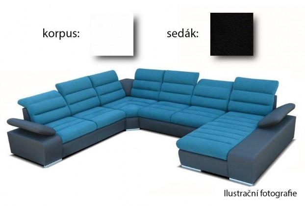 Sedací souprava tvar U Korfu III - pravý roh, 2+2+relax (soft 17 / aruba 19)