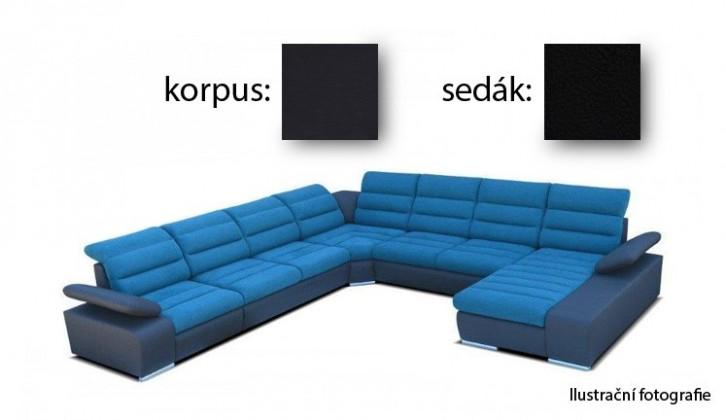 Sedací souprava tvar U Korfu IV - pravý roh, 3+2+relax (soft 11 / aruba 19)