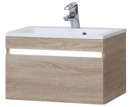 Sens - Skříňka s umyvadlem z litého mramoru 60 cm (sonoma)