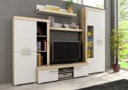Sergio I - obývací stěna, LED (san remo světlý/bílá)