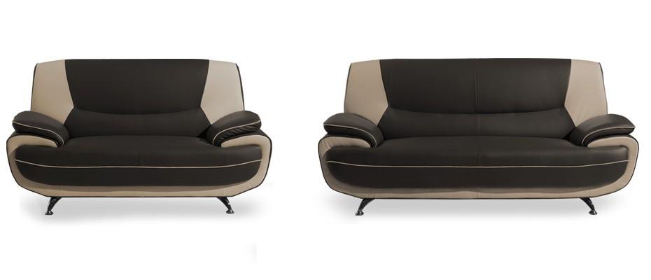 Sestava Toni-sedací set (brown-hl.látka/ivory-doplň.látka)