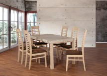 Set 17 - 6x židle,1x stůl,rozklad (dub sonoma/nubuk 26W)