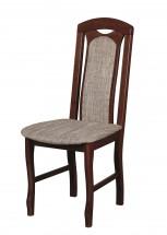 Set 18 - Jídelní židle (ořech střední / lawa 2)