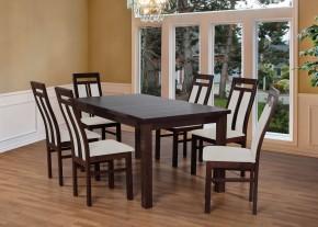 Set 7 - 6x židle,1x stůl,rozklad (wenge/nubuk 02W)