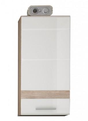 Set one - Skříňka závěsná (dub, bílá)