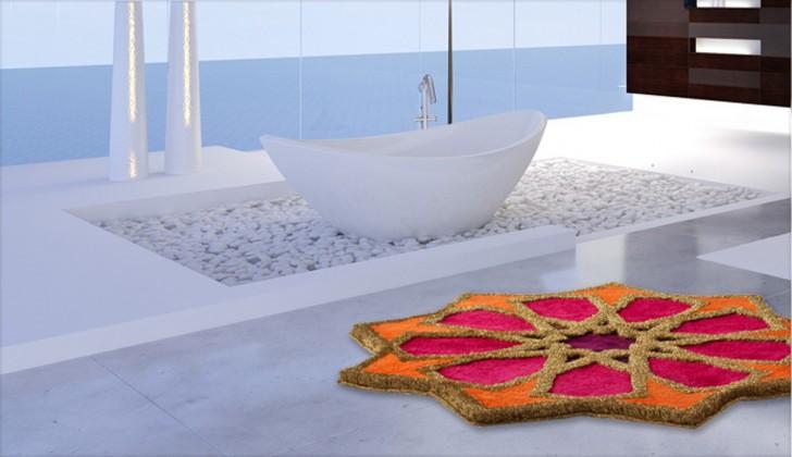 Sherezad - Předložka kruh, 120cm (oranžová-růžová-fialová-zlatá)