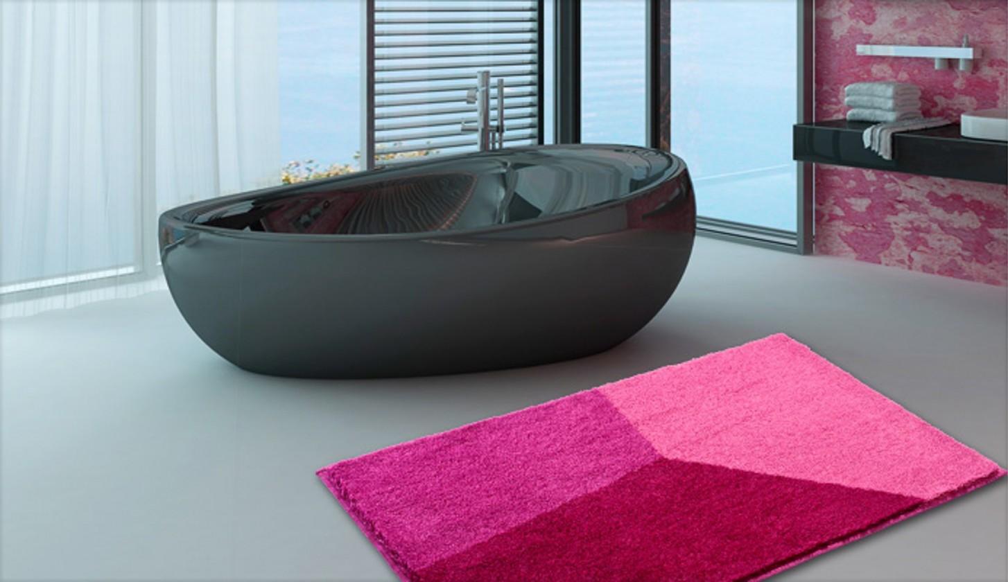 Shi - Koupelnová předložka 60x100 cm (růžová)