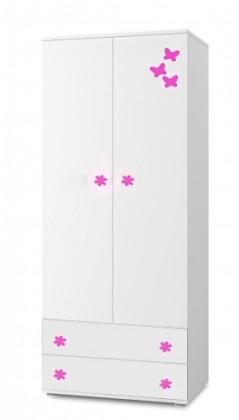 Simba 1(korpus bílá/front bílá a růžový motýlek)