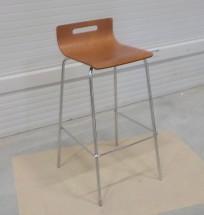 SINTE-S židle barová kovová, sedák překližka - II. jakost