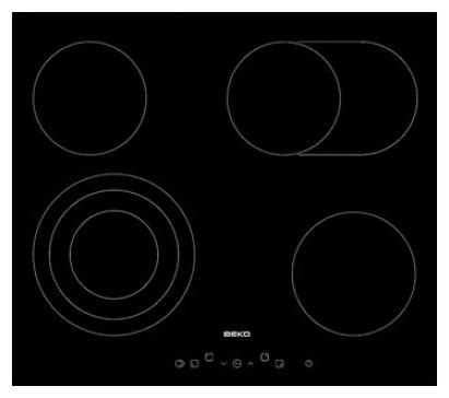 Sklokeramické desky Sklokeramická varná deska Beko HIC 64404T