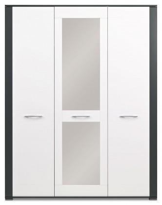 Skřín Anita - NA 8, Skříň 3D (dub sonoma/bílá lesk, grafit)
