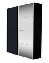 Skříň Flavour (antracit/křišťálové zrcadlo) - II. jakost