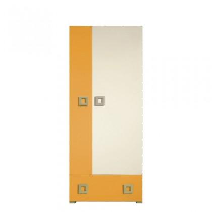 Skřín LABYRINT LA 1 (krémová/oranžová)