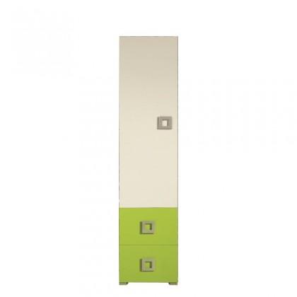 Skřín LABYRINT LA 3 L/P (krémová/limetka)