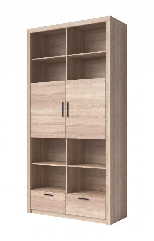 Skřín Obývací skříň Memesis - 2x dveře (dub sonoma)