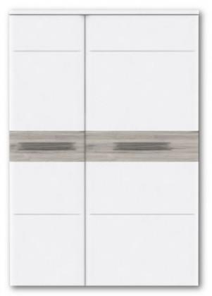 Skřín Riva RIVS42L (Bílá / dub pískový)
